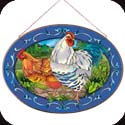 Art Panel-APM715R-Country French Hens - Country French Hens