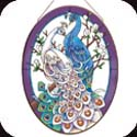 Art Panel-APM804R-White/Blue Peacocks - White/Blue Peacocks