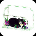 Business Card Holder-BCH1005-Tiffany Cats - Tiffany Cats