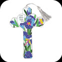 Bkmk/Magnt-BMM1002-Irises/Love Never Fails. 1 Cor. 13:8 - Irises/Love Never Fails. 1 Cor. 13:8