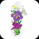 Bkmk/Magnt-BMM2505-Purple Irises/Where there is love, there is life - Purple Irises/Where there is love, there is life
