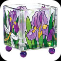 Candleware-CCM1006-Purple Irises - Purple Irises