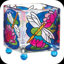 Candleware-CCM1014-Dragonfly/Water Lilies - Dragonfly/Water Lilies