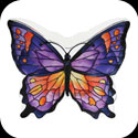 Candleware-CDB306-Orange/Purple Butterfly - Orange/Purple Butterfly
