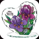 Candleware-CP1018R-Purple Irises/Where there is love, there is life - Purple Irises/Where there is love, there is life