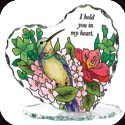 Candleware-CP1019R-Hummingbird/Lilies/I hold you in my heart                                         - Hummingbird/Lilies/I hold you in my heart