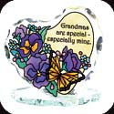 Candleware-CP2004R-Butterfly & Pansies/Grandmas are special... - Butterfly & Pansies/Grandmas are special - especially mine