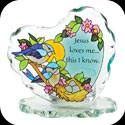 Candleware-CP2010-Nesting Birds/Jesus loves me... - Nesting Birds/Jesus loves me, this I know.