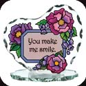 Candleware-CP2014R-Floral with Sign/You make me smile - Floral with Sign/You make me smile