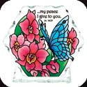 Candelware-CP2030-Butterfly & Orchids/...my peace I give you. Jn. 14:27 - Butterfly & Orchids/...my peace I give you. Jn. 14:27