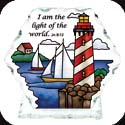Candelware-CP2036-Lighthouse/I am the light of the world. Jn 8:12 - Lighthouse/I am the light of the world. Jn 8:12
