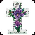 Candleware-CP3003R-Purple Irises/Where there is love... - Purple Irises/Where there is love, there is life