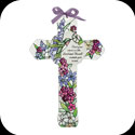 Cross-GX215-Spring Floral/Hummingbird/Cast your cares... - Spring Floral/Hummingbird/Cast your cares on the Lord and He will sustain you. Ps. 55:22