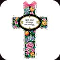 Crosses-GX4009R-Majestic Floral//With God all - Majestic Floral//With God all