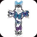 Crosses-GX4012R-Blue Butterflies//Faith is the - Blue Butterflies//Faith is the