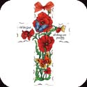 Cross-GX4024R-Poppy Garden/With God all things are possible.  Matt. 19:26 - Poppy Garden/With God all things are possible.  Matt. 19:26