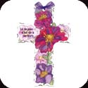 Crosses-GX4034R-Water Color Floral//Let the peace of God rule in your hearts... - Water Color Floral//Let the peace of God rule in your hearts? Col. 3:15