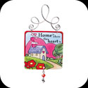 Suncatcher-JSW009-Heart home/Home is where the heart is. - Heart home/Home is where the heart is.