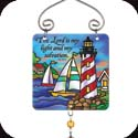 Suncatcher-JSW046R-Lighthouse//The Lord is my light... - Lighthouse//The Lord is my light and my salvation.  Ps. 27:1
