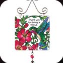 Suncatcher-JSW180R-Hummingbird & Red trumpet Vine//Thank you? - Hummingbird & Red trumpet Vine//Thank you for being a friend