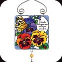 Suncatcher-JSW181R-Botanical Pansies//Friends like you? - Botanical Pansies//Friends like you are precious and few.