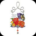 Suncatcher-JSW188-Jewel Bouquet/Let the peace of God... - Jewel Bouquet/Let the peace of God rule in your heart. Col. 3:15