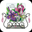 Candleware-JTL034-Purple Irises/Where there is love, there is life - Purple Irises/Where there is love, there is life