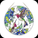 Suncatcher-LC074-Hummingbird Duo - Hummingbird Duo