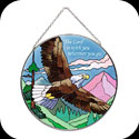 Suncatcher-LC099-Eagle/The Lord is with you wherever you go - Eagle/The Lord is with you wherever you go