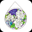 Suncatcher-LC181-Gardenias/Trust in the Lord... - Gardenias/Trust in the Lord with all thine heart. Prov. 3:5