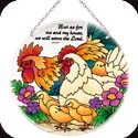 Suncatcher-LC264R-Hens & Chicks & Rooster//But a - Hens & Chicks & Rooster//But a