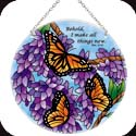 Suncatcher-LC376R-Wings & Wisteria/Behold, I make all things new. Rev. 21:5 - Wings & Wisteria/Behold, I make all things new. Rev. 21:5