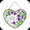 Suncatcher-LH013-Violets/I Love You Grandma - Violets/I Love You Grandma