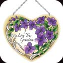 Suncatcher-LH013R-Violets/I Love You Grandma - Violets/I Love You Grandma