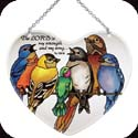 Suncatcher-LH124R-Birds on a Wire/The LORD is my ... - Birds on a Wire/The LORD is my strength and my song. Ps. 118:14