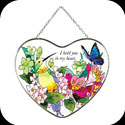 Suncatcher-LH126-Hummingbird/Lilies/I hold you in my heart - Hummingbird/Lilies/I hold you in my heart
