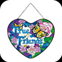 Suncatcher-LH129-Flowers with Butterfly/True Friends - Flowers with Butterfly/True Friends