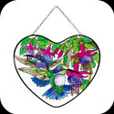 Suncatcher-LH130-Hummingbirds & Fuchsias - Hummingbirds & Fuchsias