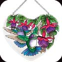 Suncatcher-LH130R-Hummingbirds & Fuchsias - Hummingbirds & Fuchsias