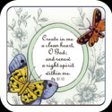 Magnet-LMG140-Victorian Butterflies/Create in me... - Victorian Butterflies/Create in me a clean heart, O God; and renew a right spirit within me. Ps. 51:10