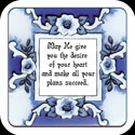 Magnet-LMG142-Rhapsody in Blue/May He give... - Rhapsody in Blue/May He give you the desire of your heart and make all your plans succeed. Ps. 20:4