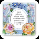 Magnet-LMG160-French Bouquet/GOD will meet... - French Bouquet/GOD will meet all your needs according to His glorious riches in Christ Jesus. Phil. 4:19