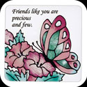 Magnet-LMG164-Butterfly/Friends like you are precious and few. - Butterfly/Friends like you are precious and few.