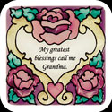 Magnet-LMG165-Heart/My greatest blessings call me Grandma. - Heart/My greatest blessings call me Grandma.