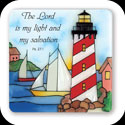 Magnet-LMG167-Lighthouse/The Lord is my light... - Lighthouse/The Lord is my light and my salvation. Ps. 27:1