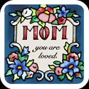 Magnet-LMG232-Antique Floral/Mom you are loved - Antique Floral/Mom you are loved