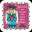 Magnet-LMG234-Angel/Teachers are angels who earn their wings - Angel/Teachers are angels who earn their wings
