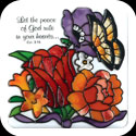 Magnet-LMG296-Jewel Bouquet/Let the peace of God... - Jewel Bouquet/Let the peace of God rule in your heart.  Col. 3:15