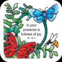Large Magnet-LMG297-Botanical//In your presence is - Botanical//In your presence is