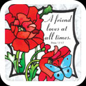 Large Magnet-LMG299-Poppy Garden//A friend loves a - Poppy Garden//A friend loves a